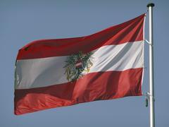 Ensign, flag of austria Stock Photos