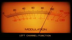 Stock Video Footage of analog signal modulation meter 4k