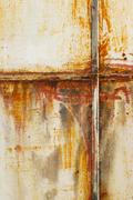 white painted metal with rust texture - stock photo