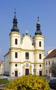 Stock Photo of church of ascension of virgin mary in straznice, hodonin district, south mora