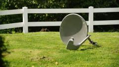 4K Discard Satellite Dish Stock Footage