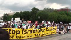 White House Palestine, Gaza Protest - stock footage