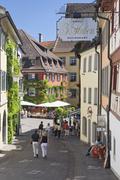historic city, meersburg, lake constance, baden-wuerttemberg, germany, europe - stock photo