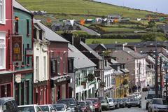 main street, dingle, county kerry, ireland, british isles, europe - stock photo