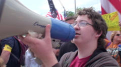 Tea Party Sings Star Spangle Banner Stock Footage