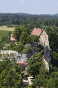 Burg pottenstein castle, franconian switzerland, franconian alb, upper franco Stock Photos