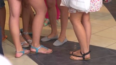 Beautiful young girl legs Stock Footage
