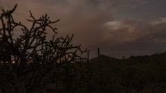 4K UHD desert valley monsoon season storm time lapse Stock Footage