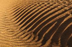 Rippled surface of a sand dune of erg admer, wilaya illizi, algeria, sahara,  Stock Photos