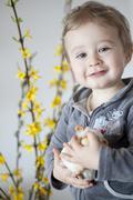 young boy, 18 months, portrait - stock photo
