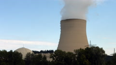 Nuclear power station Isar near Munich Stock Footage