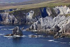 cliffs near dooega, achill island, county mayo, connacht province, republic o - stock photo
