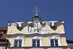 Relief of saint george, stadtschreiberhaus, town writers' house, freising, up Stock Photos