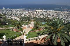 The hanging gardens of the shrine of the bap, haifa, israel, middle east Stock Photos