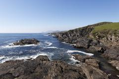 rocky coast in the south of achill island, county mayo, connacht province, re - stock photo