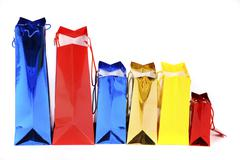 Stock Photo of colorful shiny paper bags