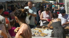 Farmers Market - Issigeac France Stock Footage