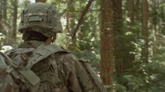 Soldier walking Stock Footage