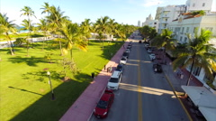 Drone aerial video Ocean Drive Stock Footage