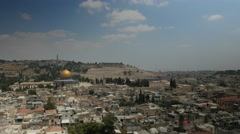 Jerusalem 4K Old city Panoramic view 1 25P Stock Footage