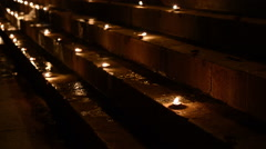 Candle ghat Stock Footage
