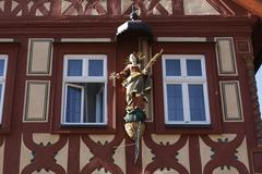 Madonna at oehniger house, karlstadt, mainfranken, lower franconia, franconia Stock Photos