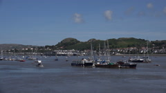 River conwy harbour north wales, uk Stock Footage