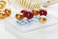 Bath pearls Stock Photos