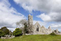 quin abbey, quin friary, county clare, ireland, europe - stock photo