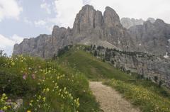 Gardena pass, alto adige, italy, europe Stock Photos