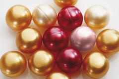 Colorful bath pearls Stock Photos