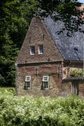 part of schloss vor husum, husum castle, north friesland, schleswig-holstein, - stock photo