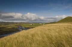 landscape on the southwest coast, iceland, scandinavia, europe - stock photo