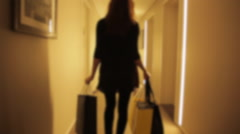 Woman and Shopping Stock Footage