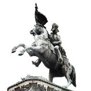 Equestrian statue of archduke charles at heldenplatz square, vienna, austria, Stock Photos