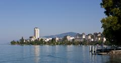 montreux, canton vaud, lake geneva, switzerland, europe - stock photo