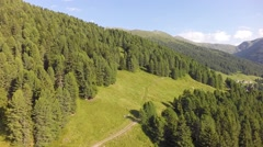 Beautiful Hiking Area in the Austrian Alps - Aerial Flight - stock footage