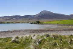 croagh patrick mountain, carrowkeeran, county mayo, connacht province, republ - stock photo
