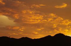 Monsoon Sunset Stock Photos