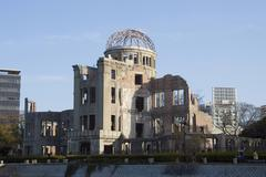 Hiroshima peace memorial, commonly called the atomic bomb dome or a-bomb dome Kuvituskuvat