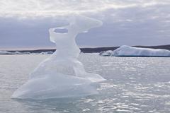 Stock Photo of ice formation on the joekulsarlon glacial lake, iceland, europe