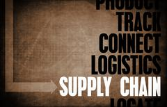 Stock Illustration of supply chain