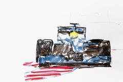Formula 1 racing car, drawing, artist gerhard kraus, kriftel, germany, europe Piirros