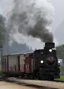 An old steam locomotive of the zillertal transport company running as a touri Kuvituskuvat