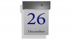 Animated sheets tear-off calendar Stock Footage
