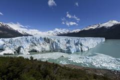 glacier front of the perito moreno glacier, parque nacional los glaciares, lo - stock photo