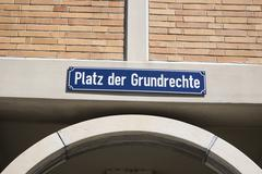 Stock Photo of platz der grundrechte or square of fundamental rights in karlsruhe, baden-wue