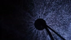 Closeup of water fountain - stock footage