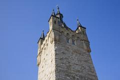 Blauer turm tower, bad wimpfen, bad-wuerttemberg, germany, europe Stock Photos