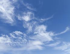 Stock Photo of swirling clouds in the sky